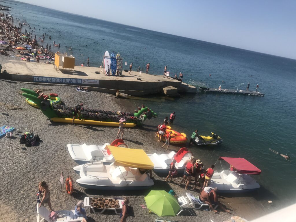 Пляж в Николаевке в Крыму